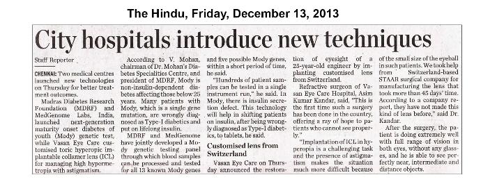 The Hindu, Friday, December 13, 2013